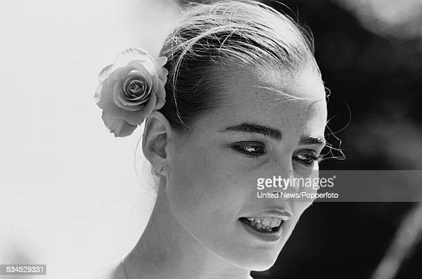 American model and actress Margaux Hemingway pictured in London on 7th June 1976