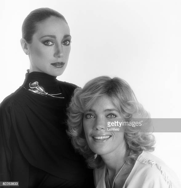 American model and actress Marisa Berenson with her sister Berry Berenson, a photographer, actress and model, Los Angeles, USA, 8th October 1980....