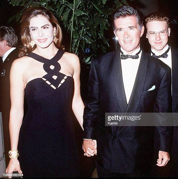 American model and beauty queen Gina Tolleson with her husband Canadian actor songwriter comedian game and talk show host Alan Thicke attending...