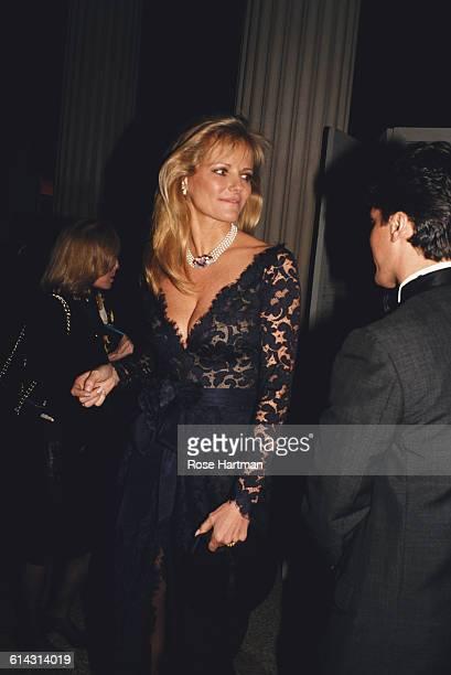 American model and fashion designer Cheryl Tiegs at a Met Gala at the Metropolitan Museum of Art in New York City circa 1995