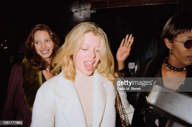 American model charityfounder and campaigner and filmmaker Christy Turlington British photographer actress and presenter Amanda de Cadenet and...