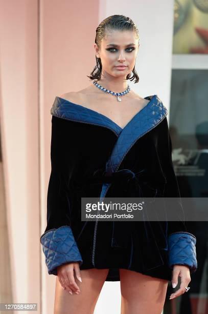 American model Taylor Hill at the 77 Venice International Film Festival 2020. Amants Red Carpet. Venice , September 3rd, 2020