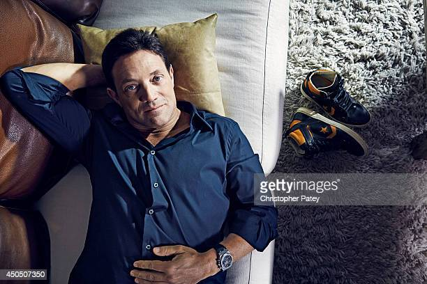 American motivational speaker and former stockbroker Jordan Belfort is photographed for The Hollywood Reporter on February 10 2014 in Hermosa Beach...