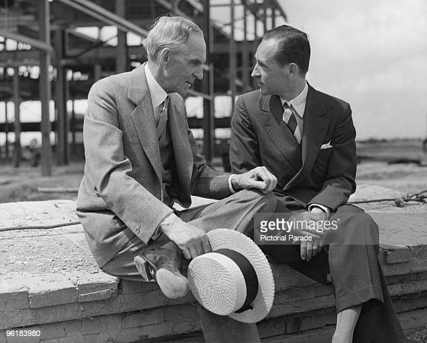 American motor manufacturer Henry Ford with his son Edsel , circa 1940. Edsel was president of the Ford Motor Company from 1919 until his death.