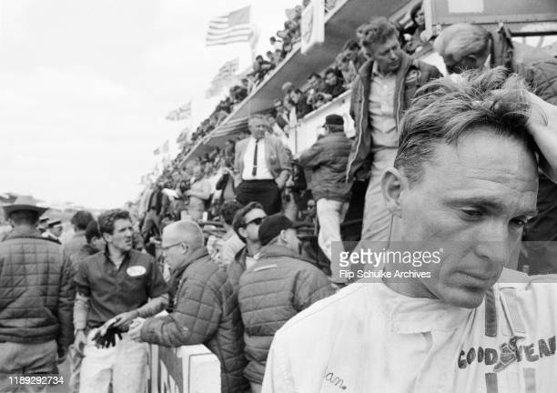 American motor racing driver Dan Gurney competing at the 24 Hours of Le Mans endurance race, Le Mans, France in 1967.