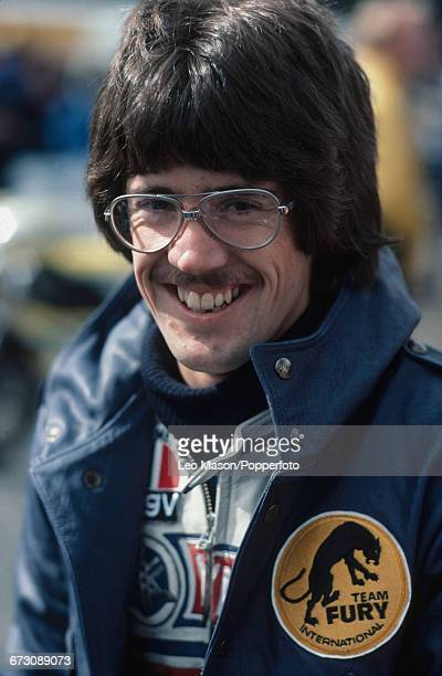American motorcycle racer Steve Baker pictured prior to competing for Yamaha in the MarlboroTransAtlantic Challenge Trophy race at Brands Hatch...