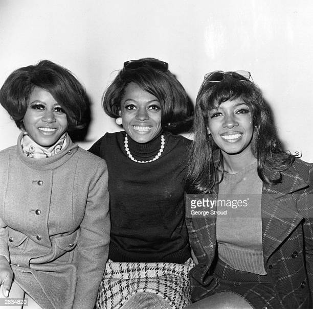 American Motown pop vocal trio The Supremes; Mary Wilson, Cindy Birdsong and Diana Ross, centre. Original Publication: People Disc - HL0212