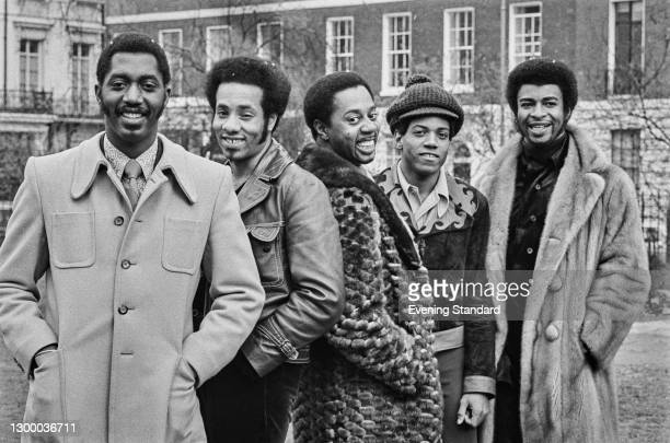 American Motown vocal group The Temptations, UK, April 1972. From left to right, they are singers Otis Williams, Richard Street , Melvin Franklin ,...