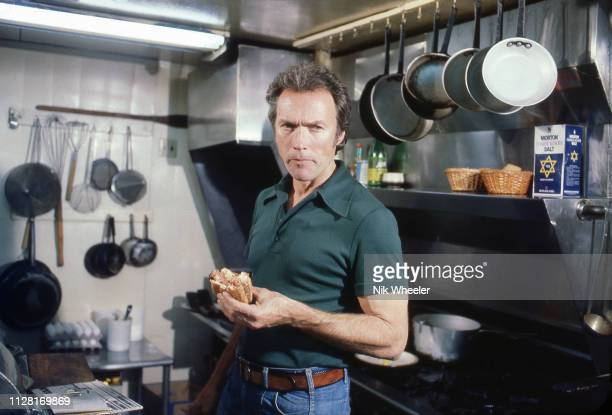 American movie actor and director Clint Eastwood poses for a portrait at his restaurant in Pebble Beach Carmel California