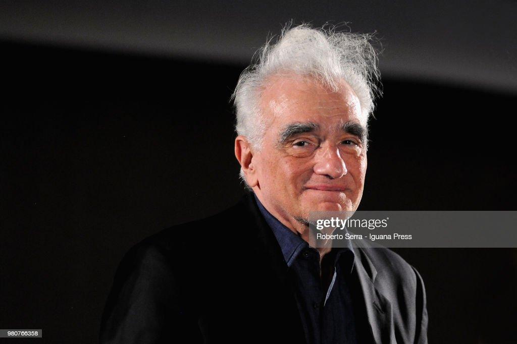 American movie director Martin Scorsese attends the inauguration of the Sotto le Stelle del Cinema Film Festival at piazza Maggiore on June 21, 2018 in Bologna, Italy.