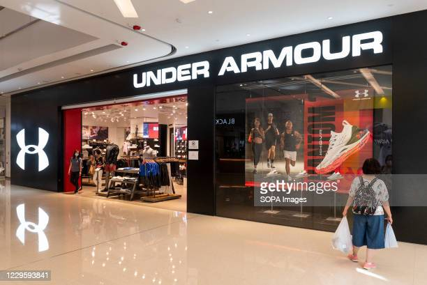 American multinational clothing brand Under Armour store seen in Hong Kong