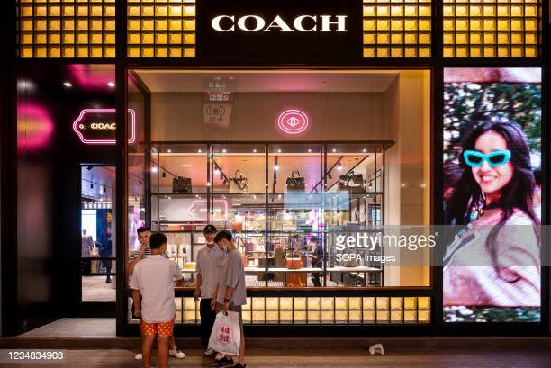 American multinational fashion and luxury accessories chain brand, Coach store and logo seen in Hong Kong.