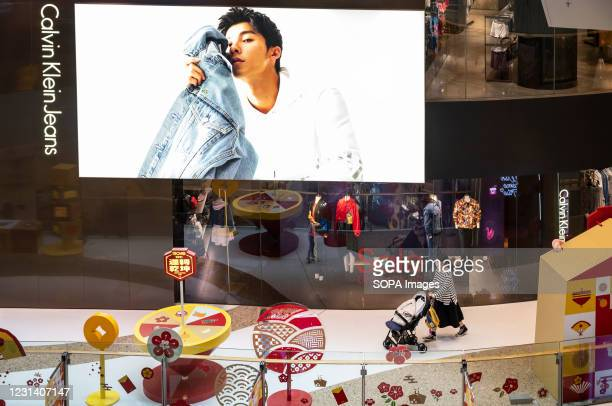 American multinational fashion brand, Calvin Klein Jeans store in Hong Kong.