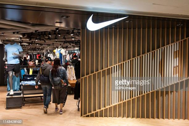 American multinational sport clothing brand Nike store seen in Hong Kong.