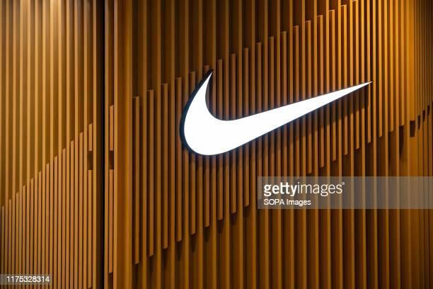 American multinational sportswear manufacturer Nike logo seen in Shenzhen.
