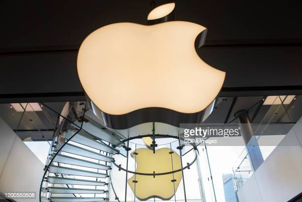American multinational technology company Apple logo seen in Hong Kong.