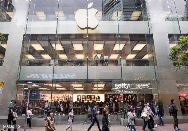 American multinational technology company Apple store in Causeway Bay Hong Kong