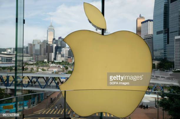 American multinational technology company Apple store in ifc shopping mall in Central Hong Kong