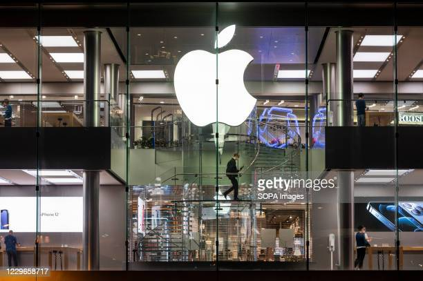 American multinational technology company Apple store seen in Hong Kong