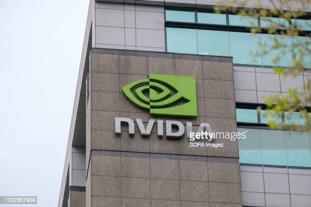 American multinational technology company incorporated in Delaware, Nvidia office seen in Taipei.