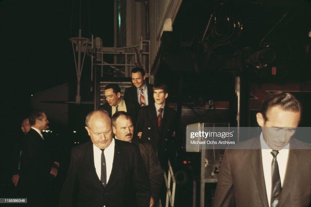 Tex Watson arrives at LAX : ニュース写真
