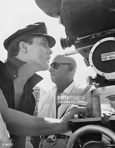American music and cinematic icon Elvis Presley on the set of 'Fun in Acapulco' directed by Richard Thorpe