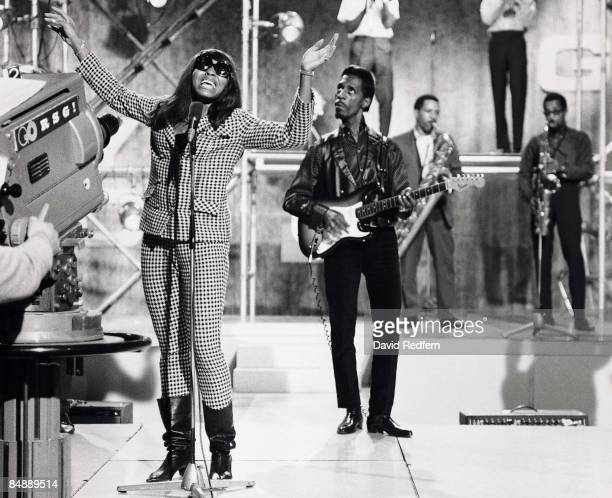 American music duo Ike Turner and Tina Turner of the Ike Tina Turner Revue perform on stage during recording of the Associated Rediffusion Television...