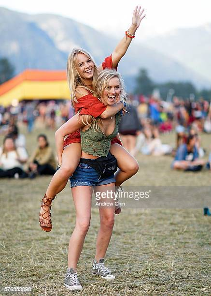American music fans from Washington attend day 4 of Pemberton Music Festival on July 17 2016 in Pemberton Canada