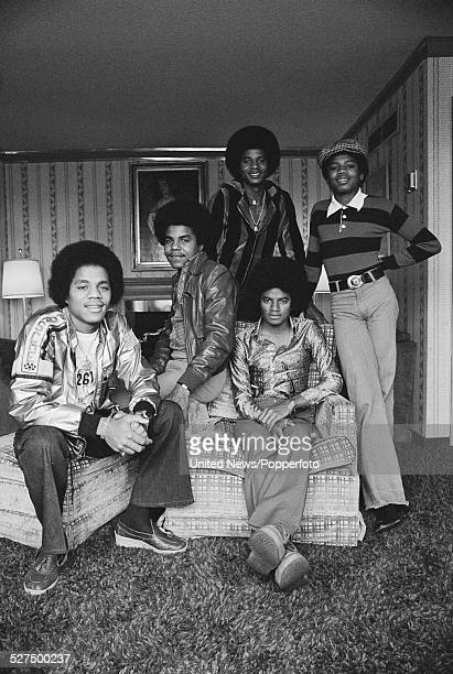 American music group The Jacksons posed in London on 19th May 1977 From left to right Marlon Tito Jackie Michael and Randy Jackson