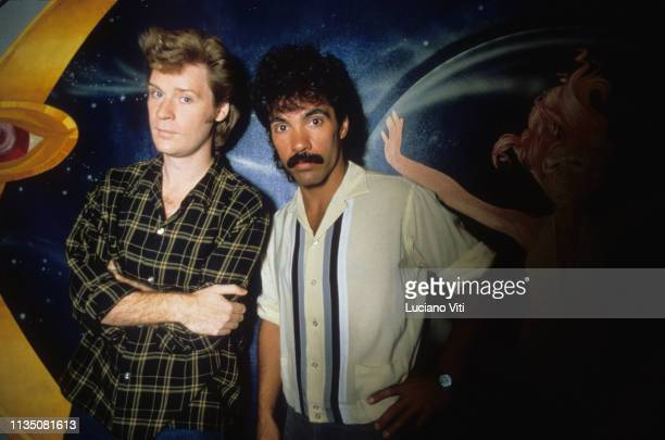 American musical duo Hall Oates New York 1982