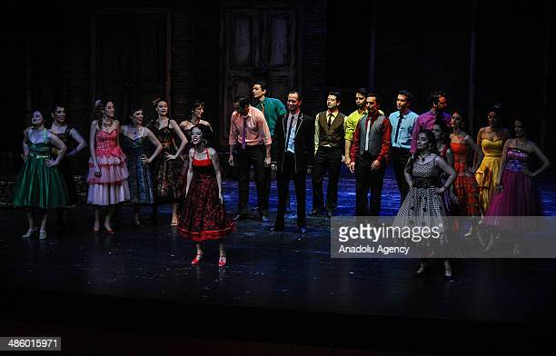 American musical 'West Side Story' is displayed in a small north city Samsun Turkey on April 21 2014 The Broadway musical was inspired by William...