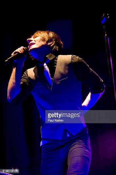 American musician Adam Young of the band Owl City performs onstage at the Aragon Ballroom Chicago Illinois April 30 2010