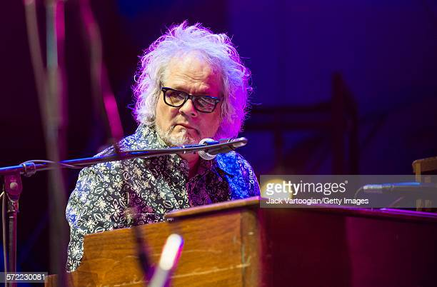 American musician Al Kooper plays a Hammond B3 organ as he performs with the Watkins Family Hour Band during a performance in celebration of the 50th...