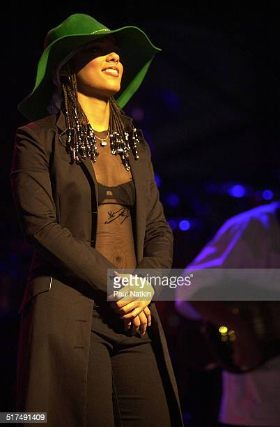 American musician and actress Alicia Keys performs onstage Chicago Illinois February 7 2002