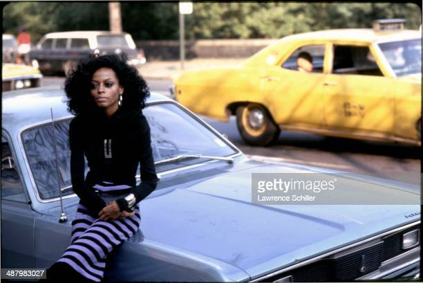 American musician and actress Diana Ross in Central Park New York New York 1970