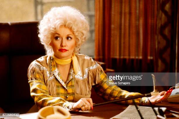 American musician and actress Dolly Parton in a scene from the film '9 to 5' California 1980