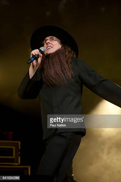 American musician and comedian Weird Al Yankovic in costume as he performs onstage at the Star Plaza Theater Merrillville Indiana July 9 2010
