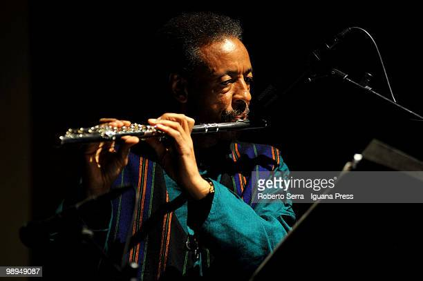 American musician and composer Henry Threadgill perform his concert with his band Zooid for AngelicA contemporary music festival at theatre San...