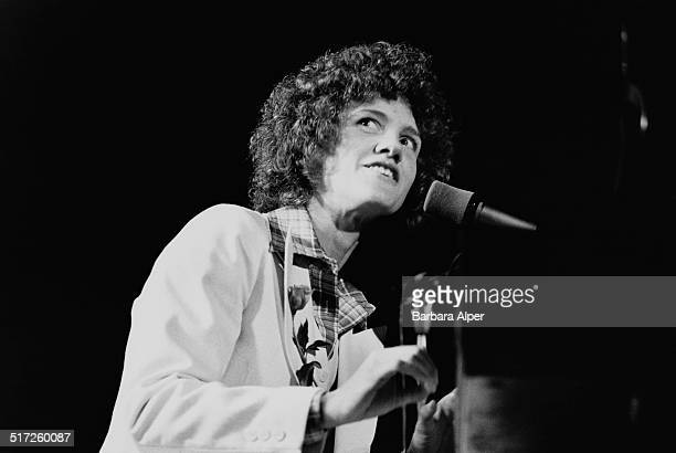 American musician and composer Margie Adam performs on stage at Jordan Hall New England Conservatory Boston Massachusetts 15th April 1977