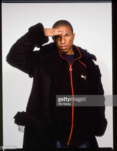 American musician and producer Pharrell Williams portrait United Kingdom 2001