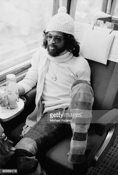 American musician and singer Larry Graham of Graham Central Station and also of Sly and the Family Stone on the Warner Brothers Music Show tour of...