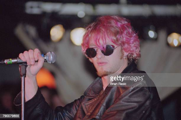American musician and singer Layne Staley performs live on stage with rock group Alice in Chains in London circa 1992