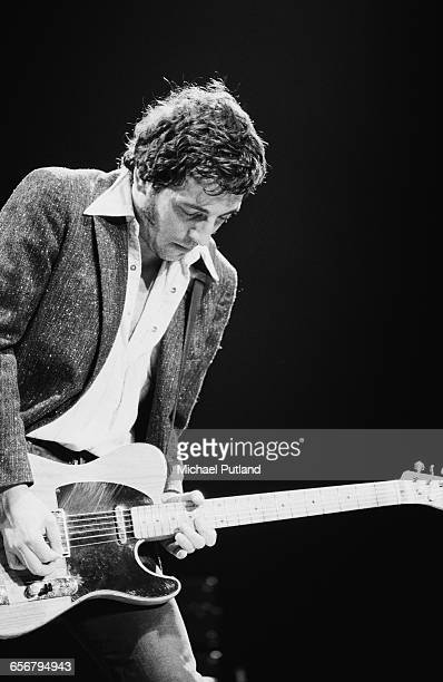 American musician and singersongwriter Bruce Springsteen performing with the E Street Band 1981