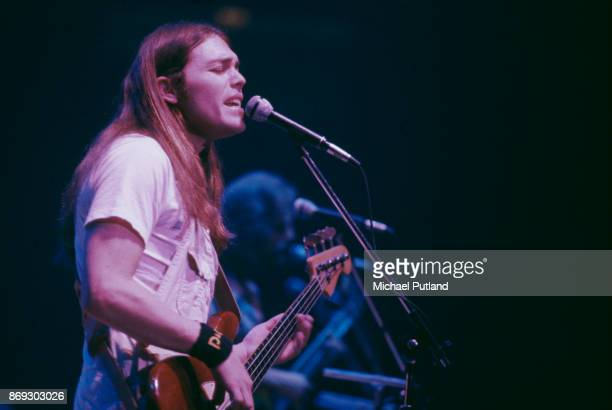 American musician and singersongwriter Timothy B Schmit of rock group Eagles performs on stage New York October 1979