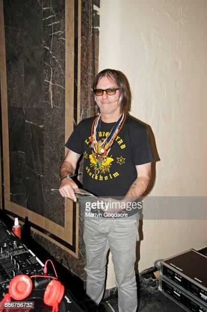 American musician Anton Newcombe of The Brian Jonestown Massacre DJs at Volksbuhne on November 19 2017 in Berlin Germany