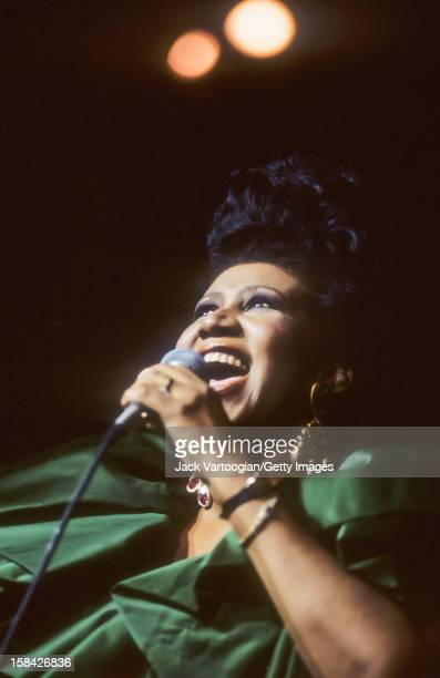 American musician Aretha Franklin performs at Radio City Music Hall New York New York August 9 1990