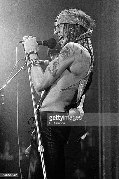 Axl Rose of Guns 'n' Roses performs in concert at the Ritz on February 2 1988 in New York City
