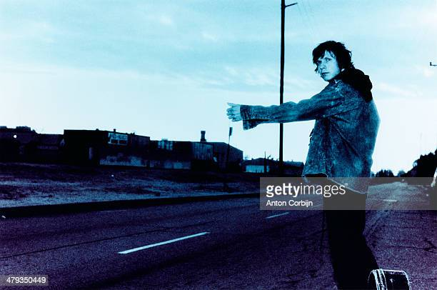 American musician Beck Hansen is photographed for Elle magazine on June 2, 1999 in Los Angeles, California.