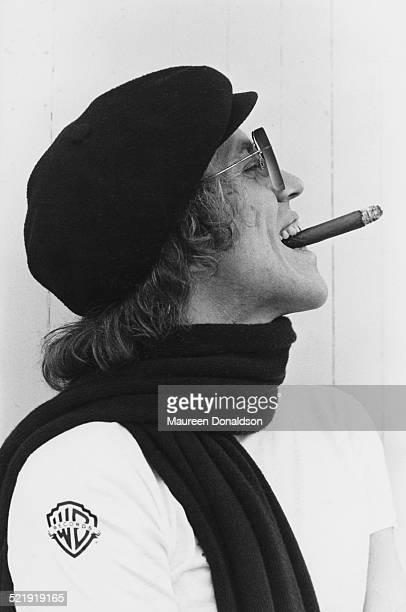 American musician Bob Welch wearing a Warner Brothers Records t-shirt, circa 1980.