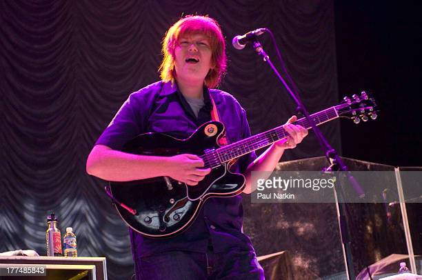 American musician Brett Dennen performs onstage at the First Midwest Bank ampitheater Tinley Park Illinois July 18 2008